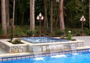 Custom Built Outdoor Home Spa