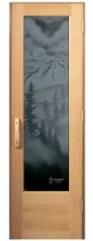 Etched Sauna Door
