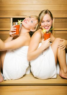 Girls Enjoying Infrared Sauna