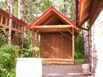 Homemade Cedar Sauna -  © Photographer: K. Urbantke - Sauna-Talk.com