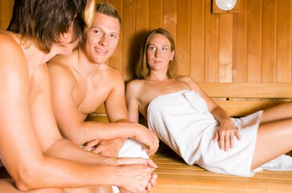 Friends in the sauna