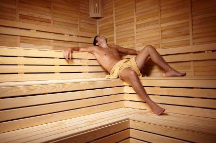 sauna men images of males enjoying the heat. Black Bedroom Furniture Sets. Home Design Ideas