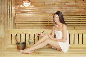 Sexy Girl in Sauna