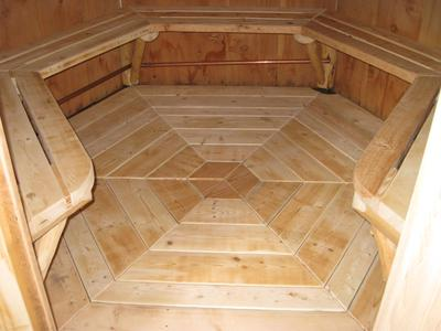 six sided home built wood fired cedar steam sauna