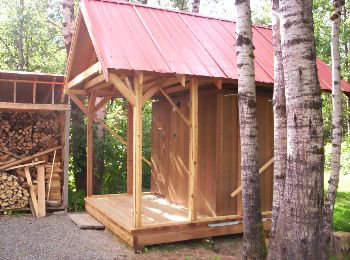 Attractive Home Built Cedar Sauna   © Photographer: K. Urbantke   Sauna Talk.