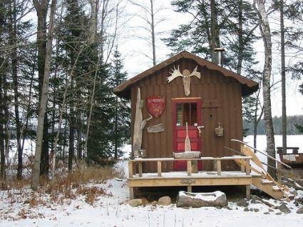 Rustic Sauna Cabin