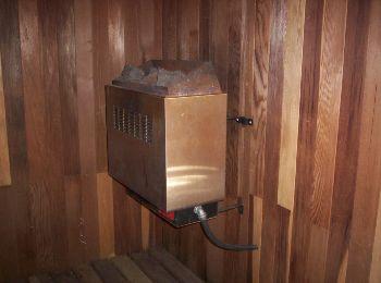 Wall Mounted Sauna Heater -  © Photographer: K. Urbantke - Sauna-Talk.com