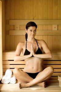 Yoga in a Sauna