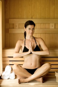 Yoga in a Sauna